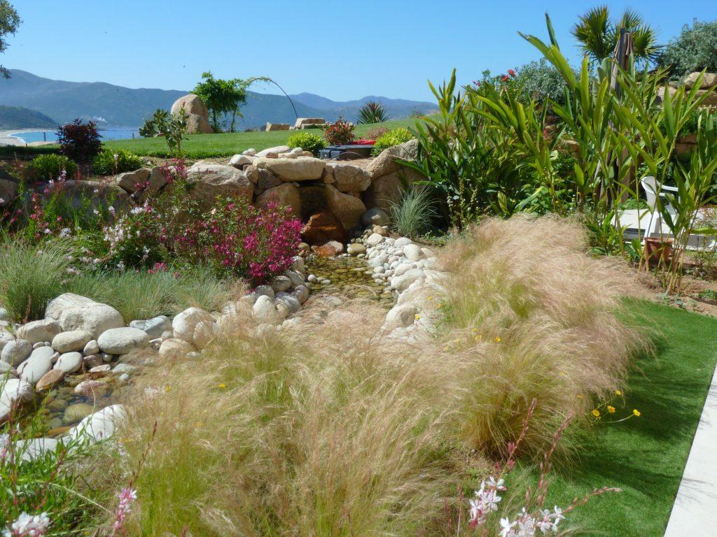 jardins et bassins aquatiques à ajaccio | art paysage | création et